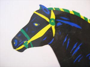 lithographie affiche biere black horse decor pour bar cheval Lac-Saint-Jean Saguenay-Lac-Saint-Jean image 2