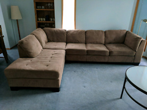 Large microfiber sectional