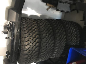 Jeep Wrangler tires,rims, fenders, front and back bumper etc