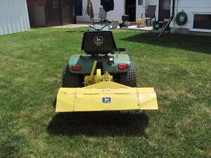 John Deere 317 with mower and tiller Regina Regina Area image 2
