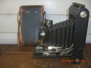 Antique 1913 Kodak No.2-C Autographic Kodak Jr. Camera with Case