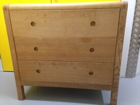 Habitat radius oak chest of drawers furniture (delivery) Sutton sm3