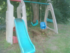 Step 2 Climber Playhouse Slide and Swings for pickup today