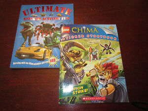 2 Sticker books Lego Chima & Ultimate Sticker Fun  New!!