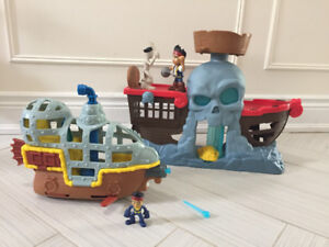 Jake and the neverland pirates shipwreck falls and submarine