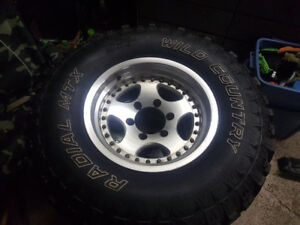31x10.5 r15 studded mud tires and rims