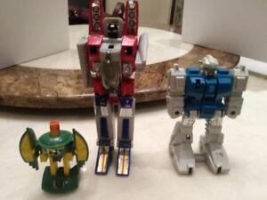 Lot Transformers G1 Starscream, Cosmos et Twin Twist