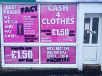 Cash 4 clothes UP TO 1.50 PER KILO free collection
