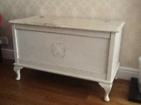 Antique blanket box/ottoman