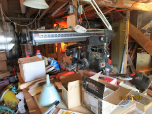 Sears Craftsman Radial Arm Saw with dust collector Shop Vac