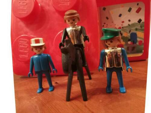 3 Minifigures playmobil del 1974
