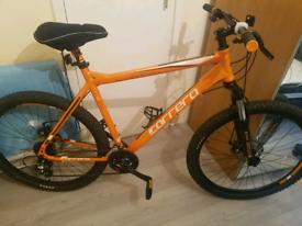 "Carrera Vengance Orange 27.5"" wheels 22"" frame mens mountain bike"