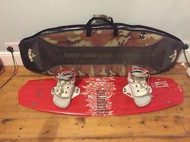 Freeform wakeboard, Liquid Force bindings and Oshea bag