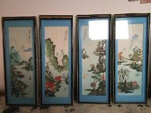 60 years old vintage swatow shell cutting pictures new in boxs
