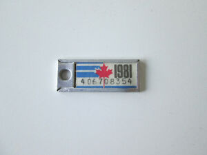 1981 Collectible Mini license plate from Quebec West Island Greater Montréal image 1