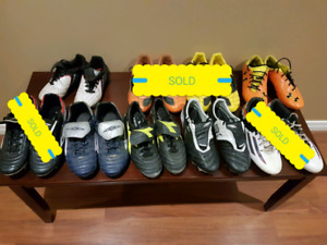 Soccer Cleats in sizes 4 to 8.5 -  high quality to entry level