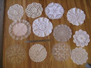 Set of 12 doilies - great for vintage wedding decor