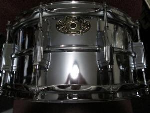 Ludwig 14x6.5 Supraphonic 402 model. Ludaloy, snare drum.