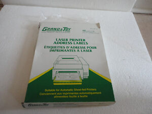 GRAND & TOY WHITE MAILING LASER LABELS 4 X 1 1/2 FOR SALE