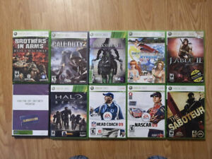 Jeux Xbox 360 : Fable, Halo, Call of Duty, Far Cry, etc...