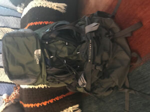 North Face 60 litre travel backpack