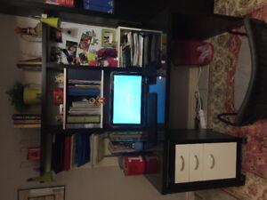 Desk with bookshelves