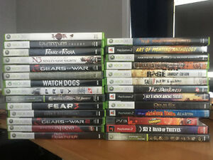 BOX OF 27 GAMES FOR SALE -XBOX360, PS3 & PS2