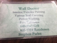 Wall doctor painting and crackfilling