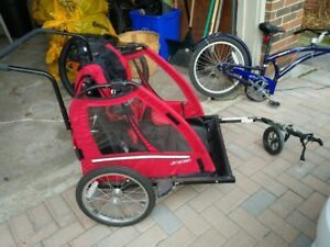 Trailer with Stroller Attachment