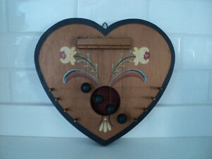 DECORATIVE ~ HEART DOOR CHIME ~ WOOD CONSTRUCTION