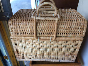 If reading, still available. Wicker picnic basket
