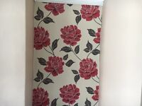 Unused roll of Colours Ella red floral wallpaper
