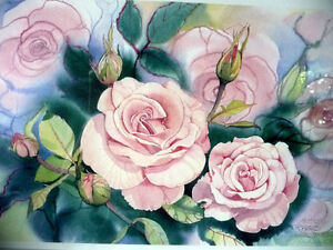 "L/Edition, Hand Signed, Mary-Dawn Roberts, ""Victorian Roses"" Stratford Kitchener Area image 3"