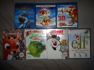 CHRISTMAS DVDS&BLURAYS(SOME BRAND NEW SEALED)