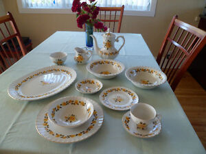 Staffordshire dinnerware for 8 (54)pieces+6 serving pieces