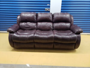 Real Leather Couch **Delivery Included**