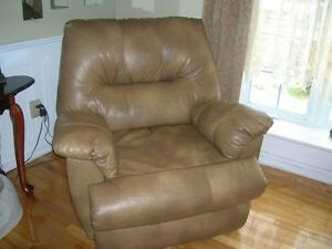 leather electric recliner