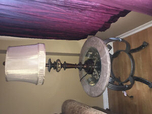 FURNITURE SALE! MARBLE & GLASS SIDE TABLE