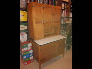 Antique Maple Kitchen Cupboard with flour mill