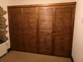 4 x Large wooden cupboard doors