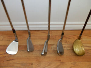 Collection of 5 Various RH Golf Clubs