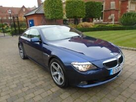 BMW 635 635d SPORT with FULL PANORAMIC SUNROOF & SATELLITE NAVIGATION SYSTEM (blue) 2008