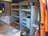 Racking for a builders trade van Vw t5