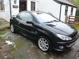 Peugeot 206 cc - 2.0 Allure hard-top convertible (cabriolet) - alloys, new tyres - 12 months MOT