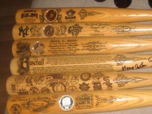 Jays Baseball GU Bat Hinske Sprague Koskie + Jays Bobblehead