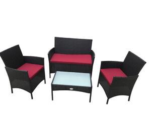 Four Piece patio outdoor & indoor set brand new