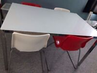 Ikea Torsby glass table with six chairs