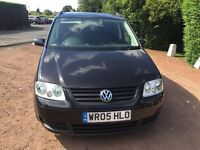 VW TOURAN TDI 2005 ONLY 90k 7 seater 6 speed