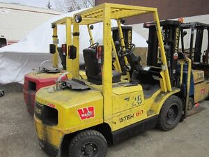 6000 LB HYSTER AIR TIRED FORKLIFT