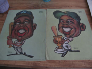 WILLIE MAYS HANK AARON TESCO POSTERS NICKLAUS